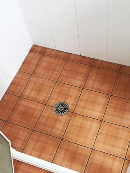 Grout Colour Sealing Bathroom Before